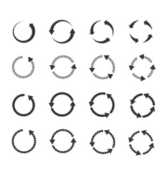 Circle refresh reload rotation loop arrows vector image