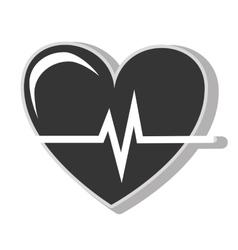 Heart waves cardiology vector