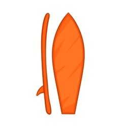 Surfboard icon cartoon style vector