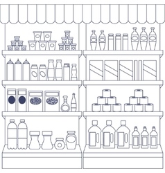 Big set of store products vector