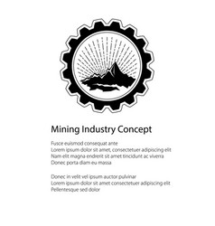 brochure of the mining industry vector image vector image