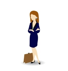 Cartoon image of a confident businesswoman vector image vector image