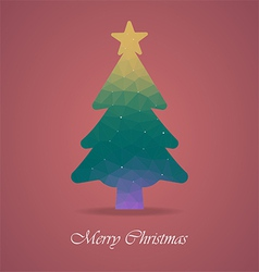 christmas tree with polygon vector image