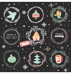 Christmas with Typographic Background vector image