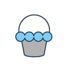 Cupcake dessert sweet vector