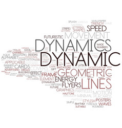 Dynamics word cloud concept vector