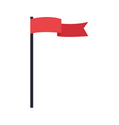 Education red flag pole insignia symbol image vector