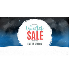 End of winter sale background discount coupon vector