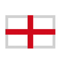 england flag pixel art cartoon retro game style vector image