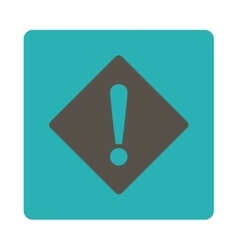 Error flat grey and cyan colors rounded button vector