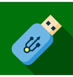 Flash drive icon vector image