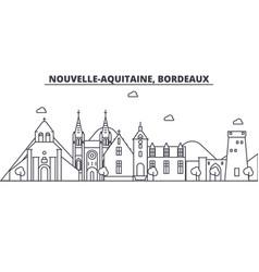 France bordeaux architecture line skyline vector
