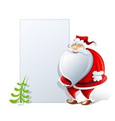 happy santa claus with paper vector image vector image