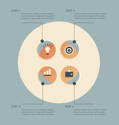 Infographic steps design template vector image