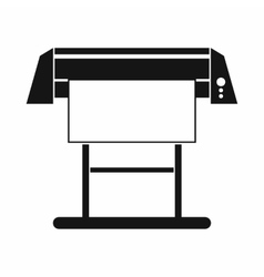Large format inkjet printer icon simple style vector