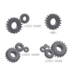 logo set mechanical cogwheel in 3d vector image vector image