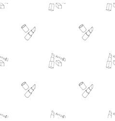 Makeup seamless pattern vector image