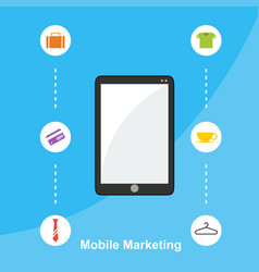 mobile marketing flat design style vector image vector image