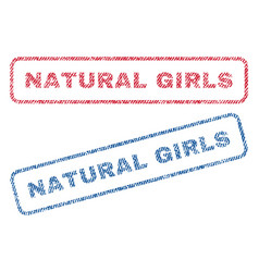 natural girls textile stamps vector image vector image