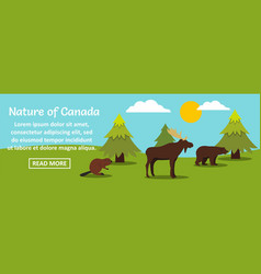 nature of canada banner horizontal concept vector image