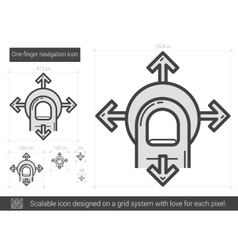 One-finger navigation line icon vector