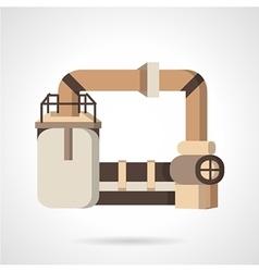 Plastics industry flat icon vector