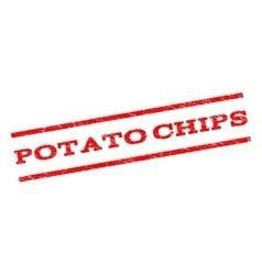Potato chips watermark stamp vector