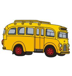 Retro school bus vector