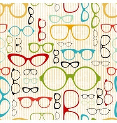 seamless glasses pattern in vintage style vector image vector image
