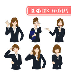 set business woman vector image vector image