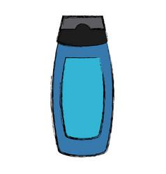 shampoo bottle isolated vector image