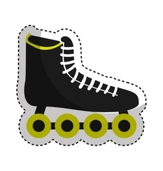 Skate sport equipment icon vector