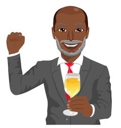 successful mature african american businessman vector image