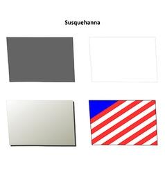Susquehanna map icon set vector