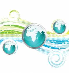 World icon and background vector