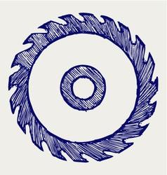 Circular saw blade vector image