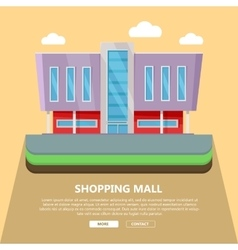 Shopping mall web template in flat design vector