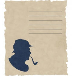 silhouette pipe smoker vector