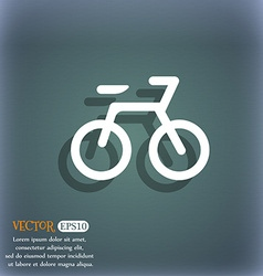 Bicycle icon symbol on the blue-green abstract vector