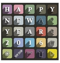 Icons new year vector