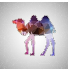 Creative concept camel icon isolated on vector