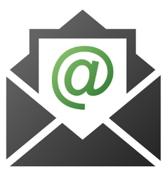 Open email gradient icon vector