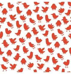 seamless pattern with birds vector image