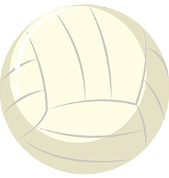 Volleyball ball on white background vector