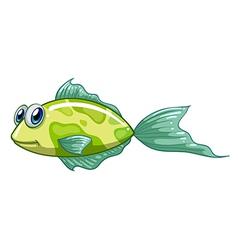 A small green fish vector image vector image