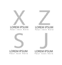 Abstract alphabet letter logotype symbol icons set vector