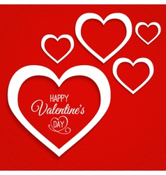 abstract card for Valentines Day vector image vector image