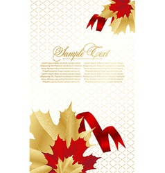 Abstract card with leafs vector