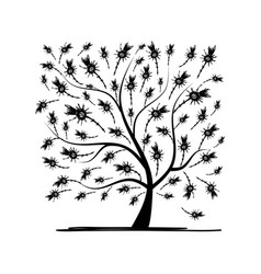 art tree square for your design vector image