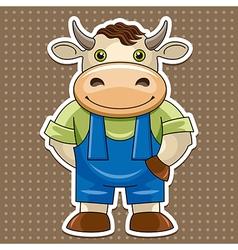 Artoon cute bull vector